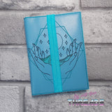 DIGITAL DOWNLOAD Waves In Hands A6 Notebook Holder Cover