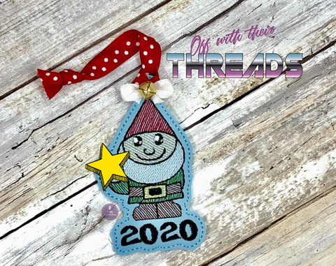 DIGITAL DOWNLOAD 2020 Sketchy Gnome Ornament