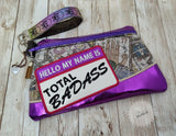 DIGITAL DOWNLOAD Total Badass Clutch Applique Zipper Bag Lined and Unlined
