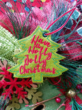 DIGITAL DOWNLOAD Holly Jolly Christmas Tree Ornament Gift Tag