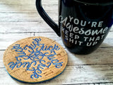 DIGITAL DOWNLOAD F 2020 Snowflake Coaster