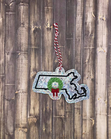 DIGITAL DOWNLOAD Massachusetts State Holiday Ornament