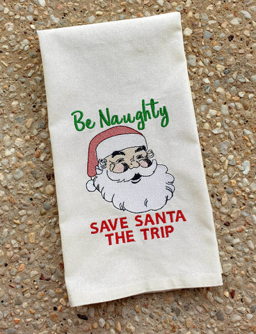DIGITAL DOWNLOAD Be Naughty Save Santa The Trip 3 SIZES INCLUDED