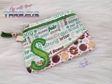 DIGITAL DOWNLOAD Letter S Clutch Applique Zipper Bag Lined and Unlined Alphabet