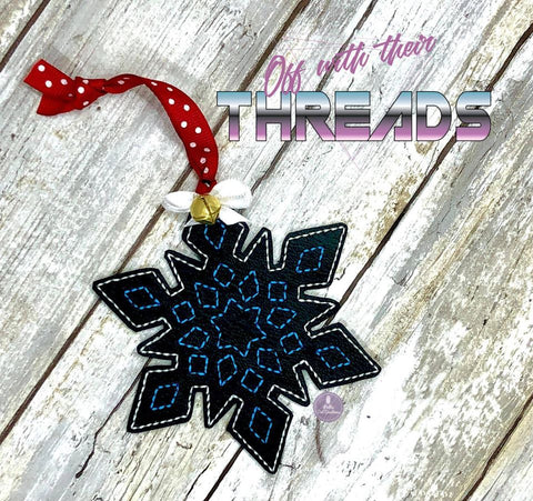 DIGITAL DOWNLOAD Snowflake Ornament Gift Tag