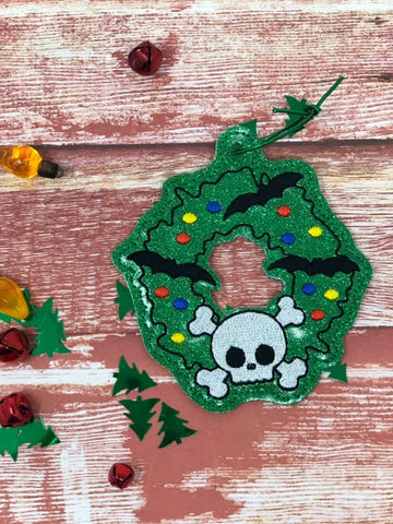 DIGITAL DOWNLOAD Spooky Wreath Ornament Gift Tag 2020