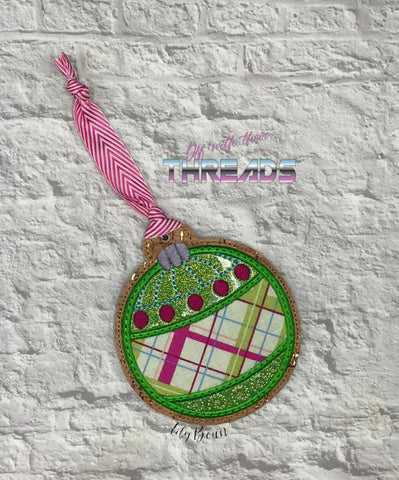 DIGITAL DOWNLOAD Applique Vintage Ornament Gift Tag