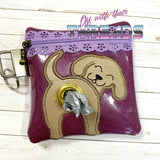 DIGITAL DOWNLOAD 5x5 ITH Labrador Retriever Dog Poo Zipper Bag Lined and Unlined