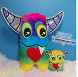 DIGITAL DOWNLOAD Love Monster Plushie Set 5 SIZES INCLUDED