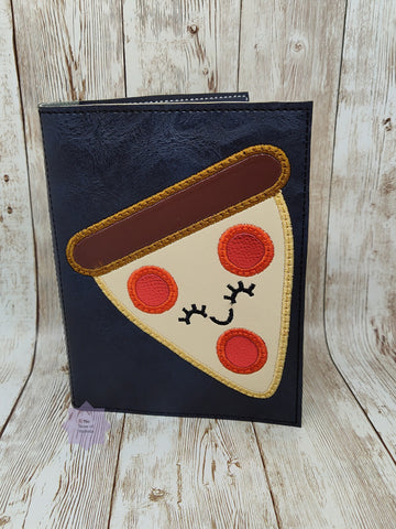 DIGITAL DOWNLOAD A6 Applique Pizza Notebook Holder Cover