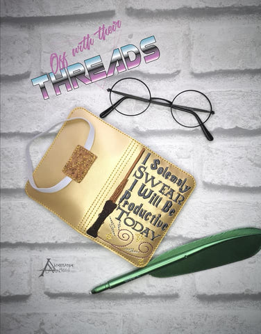 DIGITAL DOWNLOAD I Solemnly Swear I Will Be Productive Today Mini Comp Notebook Cover Holder