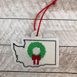 DIGITAL DOWNLOAD 4x4 Washington State Holiday Ornament