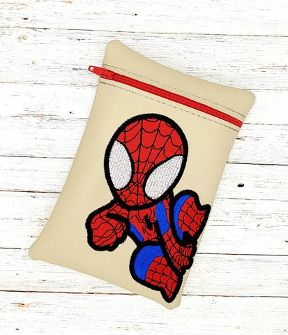 DIGITAL DOWNLOAD 5x7 Spidey Zippered Bag