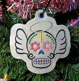 4x4 DIGITAL DOWNLOAD Sugar Skull Angel Ornament