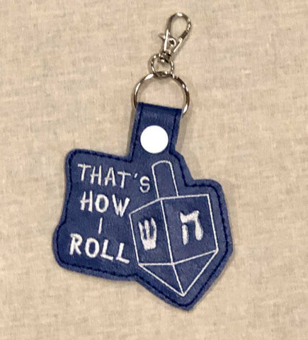 4x4 DIGITAL DOWNLOAD That's How I Roll Dreidel Snap Tab