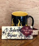 DIGITAL DOWNLOAD 5x7 Solemnly Swear A Lot Mug Hug Wrap ITH Project VIDEO TUTORIAL