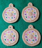DIGITAL DOWNLOAD 4x4 5x7 Donut Earring and Pendant Set 2 and 3 inch included
