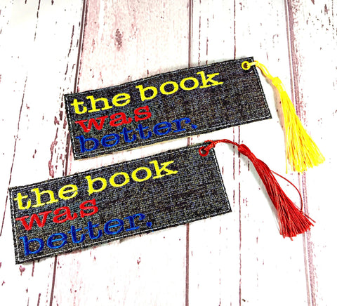 DIGITAL DOWNLOAD 5x7 Multi The Book Was Better Bookmark ITH