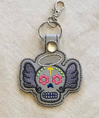4x4 DIGITAL DOWNLOAD Sugar Skull Angel Snap Tab