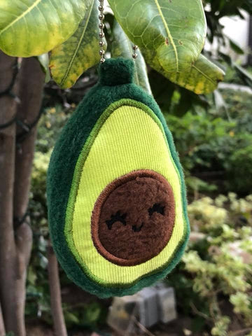 DIGITAL DOWNLOAD 4x4 ITH Avocado Applique Plushie