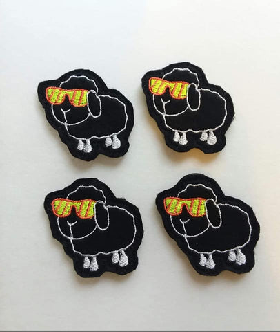 DIGITAL DOWNLOAD 4x4 Friendly Black Sheep Feltie