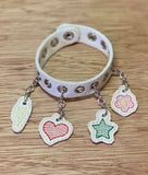 "5x7 DIGITAL DOWNLOAD 8"" and 9"" Charm Bracelet Starter Pack 4 Charms Included"