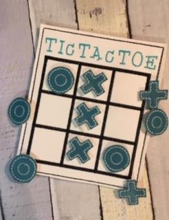 5x7 DIGITAL DOWNLOAD Tic Tac Toe Play Set With Storage Pocket