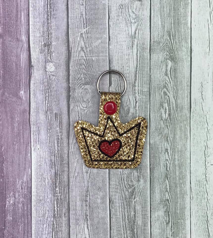 4x4 DIGITAL DOWNLOAD Heart Crown Snap Tab
