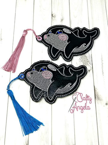 DIGITAL DOWNLOAD 4x4 and 5x7 Multi Orca Bookmark