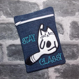 DIGITAL DOWNLOAD 5x7 ITH Stay Classy Zipper Bag Lined and Unlined