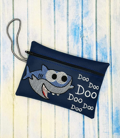 DIGITAL DOWNLOAD 5x7 Shark Zippered Bag