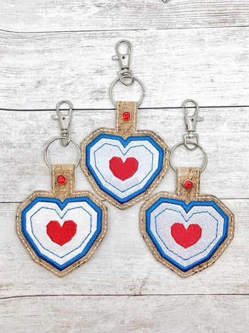 4x4 DIGITAL DOWNLOAD Heart Container Applique Snap Tab