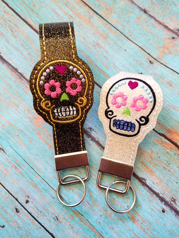 5x7 6x10 DIGITAL DOWNLOAD Sugar Skull Key Fob Set