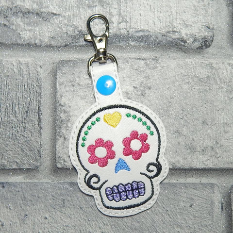 4x4 DIGITAL DOWNLOAD Sugar Skull Snap Tab