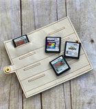 DIGITAL DOWNLOAD 5x7 ITH Game Cartridge Holder Snap Tab Wallet DS Switch