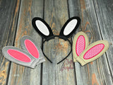 5x6 DIGITAL DOWNLOAD ITH Applique Easter Bunny Rabbit Ears Headband Slider