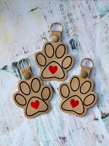 4x4 DIGITAL DOWNLOAD Heart Paw Snap Tab
