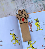 DIGITAL DOWNLOAD 5x7 Heart Paw Bookmark