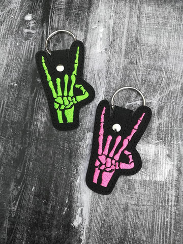 4x4 DIGITAL DOWNLOAD Skeleton Hand Horns Snap Tab