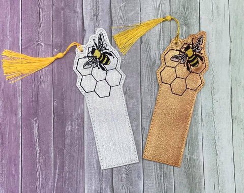 DIGITAL DOWNLOAD 5x7 8 Honey Bee Bookmark ITH Embroidery Design