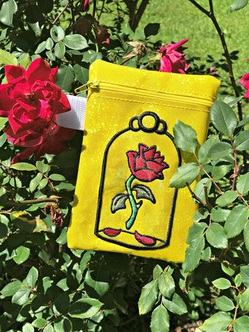 DIGITAL DOWNLOAD ITH Rose Zipper Bag Lined and Unlined