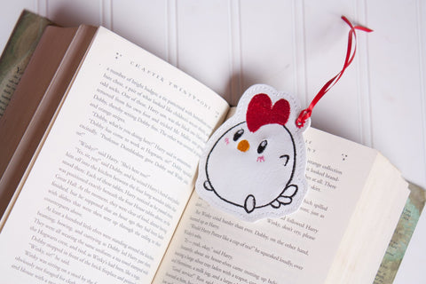 4x4 DIGITAL DOWNLOAD Chicken Doodle Bookmark