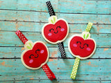 4x4 DIGITAL DOWNLOAD Applique Apple Cutie Planner Band