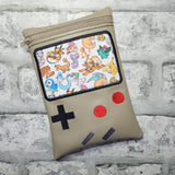 DIGITAL DOWNLOAD Gameboy ITH Zippered Bag Lined and Unlined