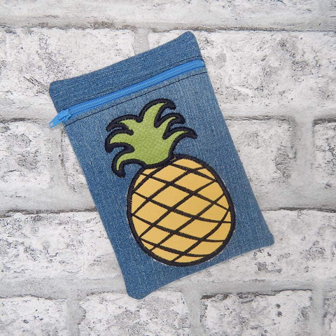 DIGITAL DOWNLOAD Applique Pineapple ITH Zippered Bag Lined and Unlined