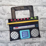 DIGITAL DOWNLOAD Boombox ITH Zippered Bag Lined and Unlined