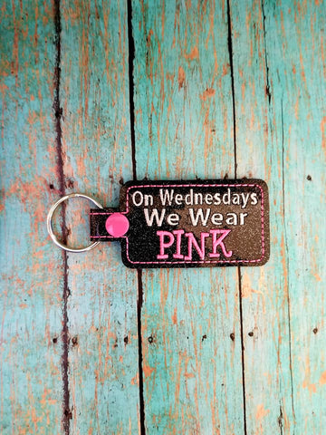 4x4 DIGITAL DOWNLOAD On Wednesday's We Wear Pink Snap Tab