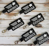 4x4 DIGITAL DOWNLOAD Goose and Maverick Top Gun Snap Tab Set