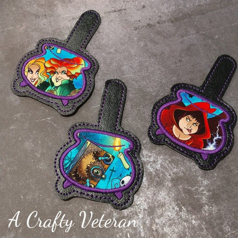 4x4 DIGITAL DOWNLOAD Applique Cauldron Snap Tab