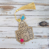 4x4 DIGITAL DOWNLOAD Sand Castle Bookmark